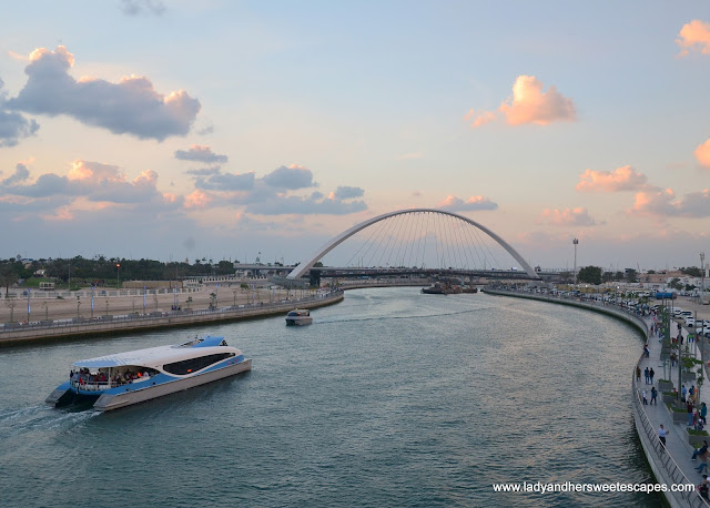 Dubai Ferry passing through Dubai Canal