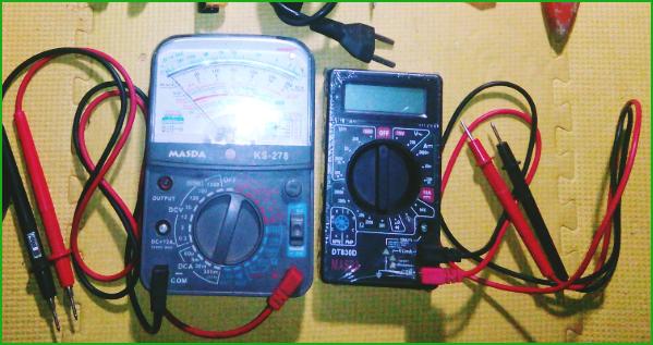 Gambar Multitester Analog & Digital dan Cara Membaca Nilai Resistor