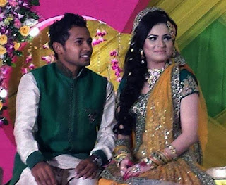 Mushfiqur Rahim and his Wife Monti wedding