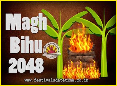 2048 Magh Bihu Festival Date and Time, 2048 Magh Bihu Calendar