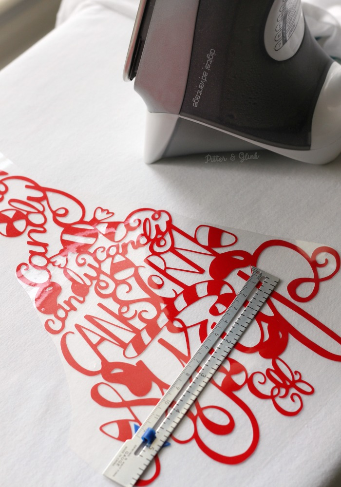 Ironing a hand-lettered HTV design