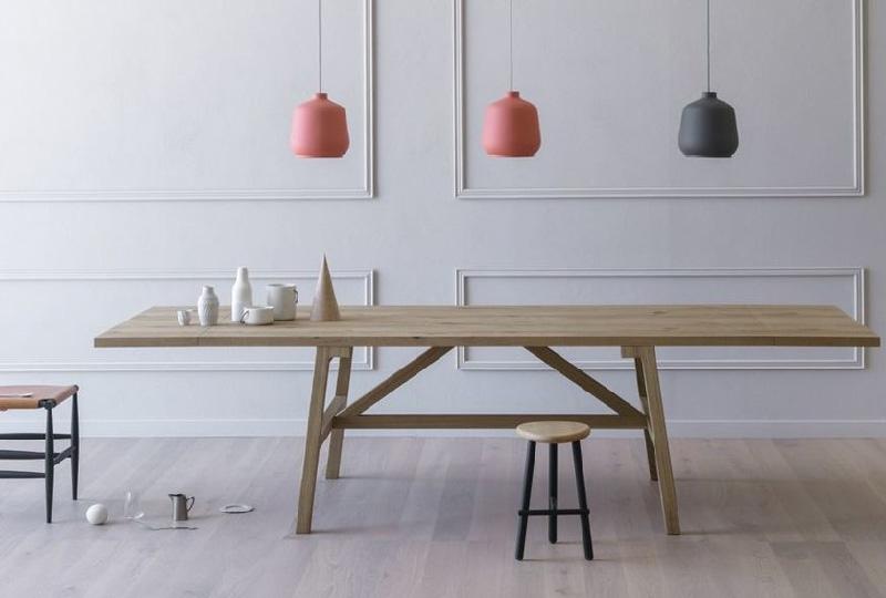 tavolo da pranzo in legno rettangolare allungabile FRATTINO di Miniforms