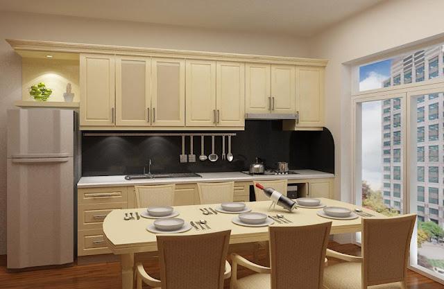 Thiết kế phòng bếp căn hộ Booyoung Vina