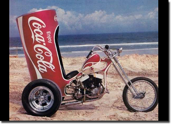 Motos mais bizarras do mundo - Triciclo Coca Cola
