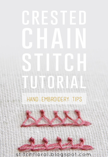 Crested chain stitch tutorial