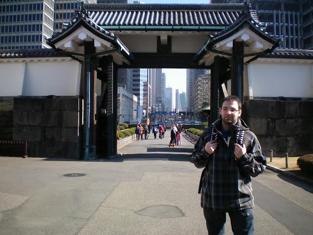 Entrada a los jardines imperiales de Tokio