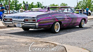 Custom Purple Chevrolet Impala Low Rider Rear Angle
