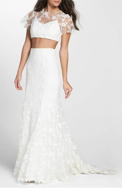 K'Mich Weddings - wedding dress - separates - Hearthloom