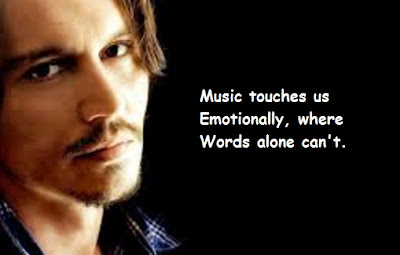 """Johnny Depp Quotes About Music"""