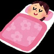 寝ている女性のイラスト(睡眠)