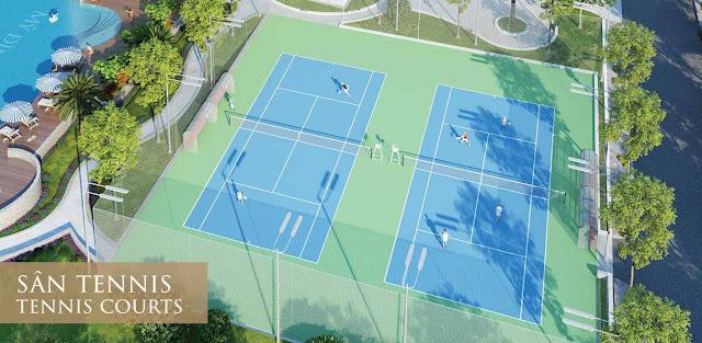 Sân Tennis tại Mỹ Đình Pearl