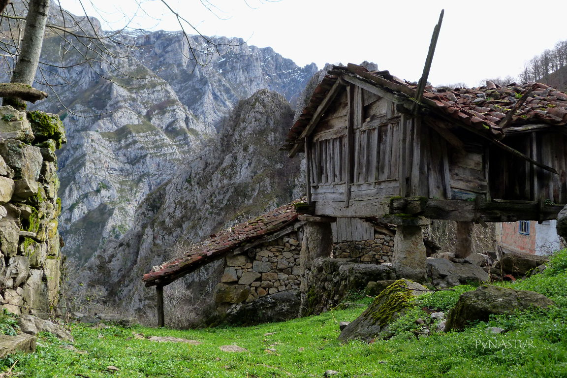Hórreo Beyusco en Biamón - Ponga - Asturias