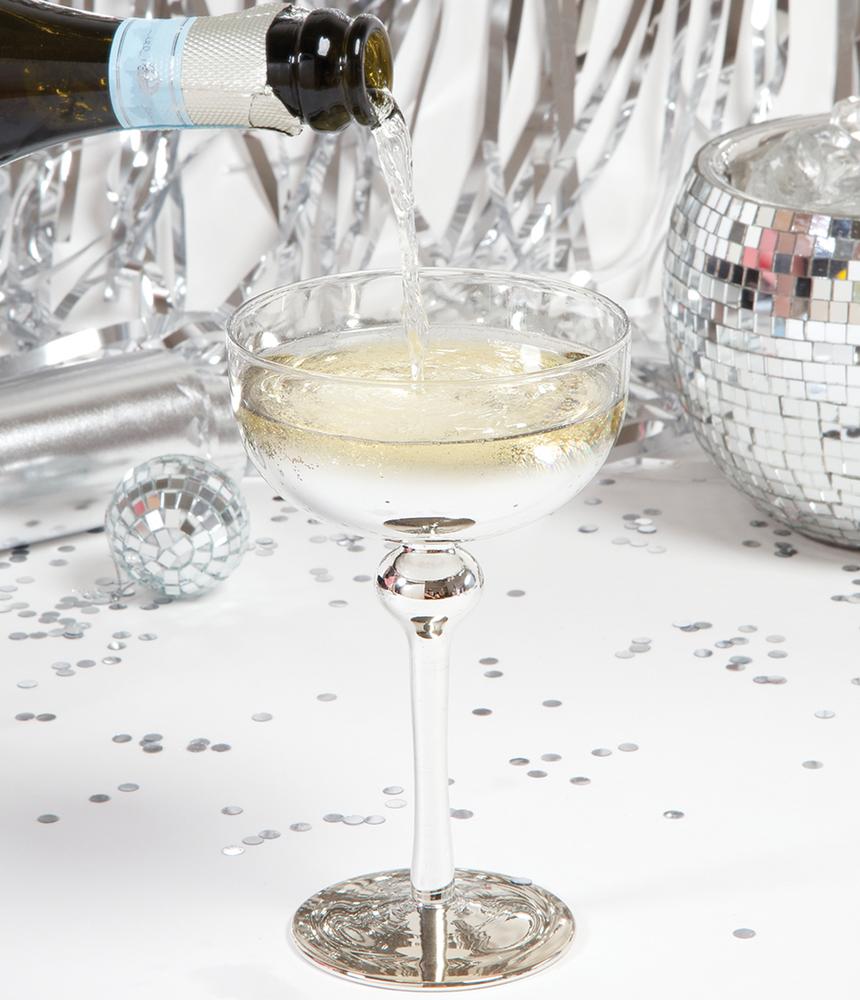 8 Oak Lane Coupe Glass Silver