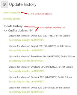 uninstall windows update