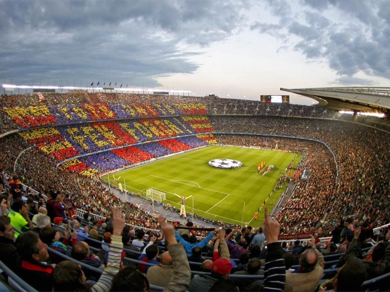 Fondos De Pantalla Camp Nou España El Fc Barcelona: Fondo De Pantalla Futbol Camp Nou F.C. Barcelona