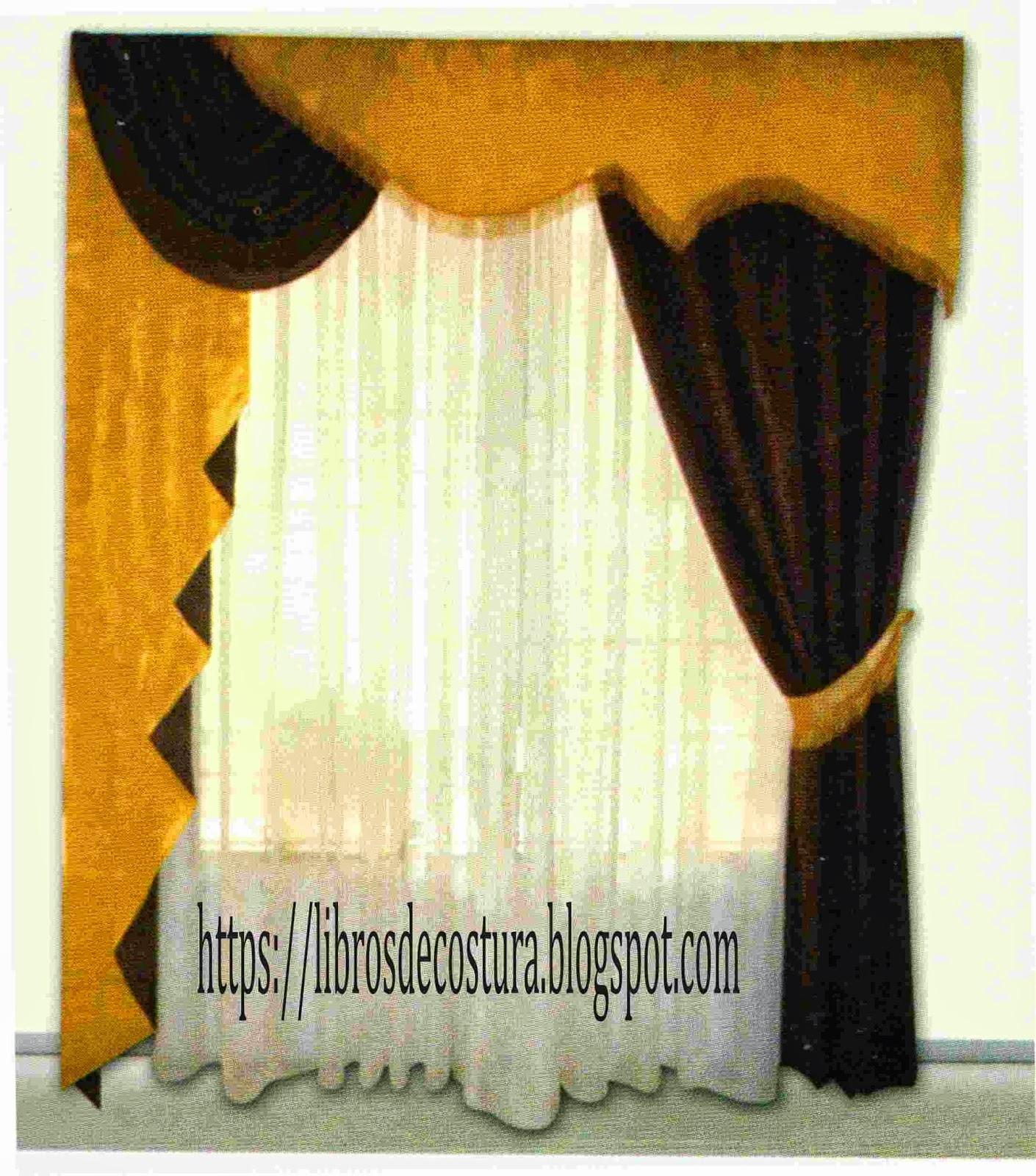 Libros de costura como hacer cortinas paso a paso for Modelos de cortinas para cuartos