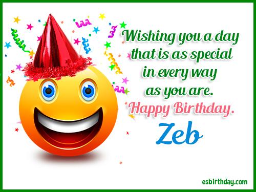 Zeb Happy birthday