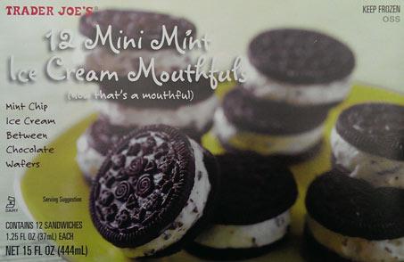 On Second Scoop: Ice Cream Reviews: Trader Joe's Mini Mint ...