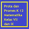 Prota, Promes Matematika Kurikulum 2013 Kelas VII dan IX