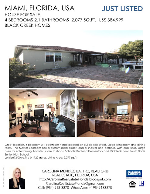 Just Listed! Smart 4 Bedroom Home for sale in Miami.