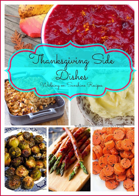 Come find delicious recipes to serve to your family and friends this Thanksgiving on Walking on Sunshine Recipes!