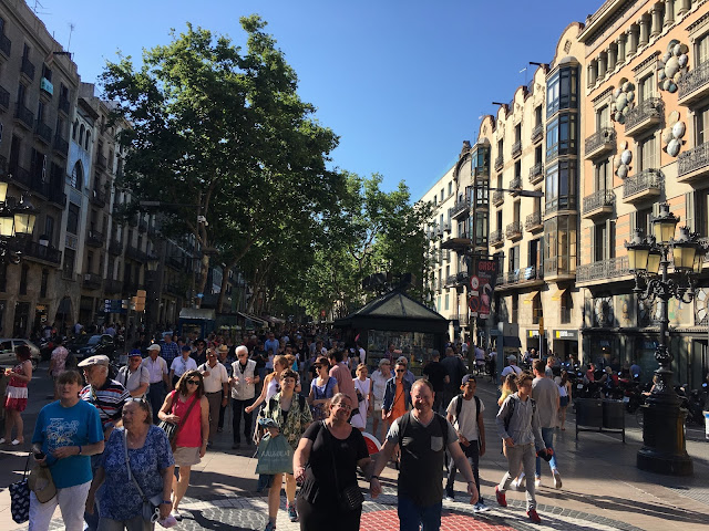 Ramblas crowd