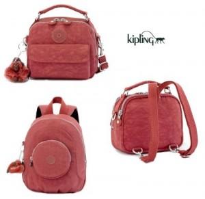 9773c9e0b A minha é aquela primeira que vira uma mochilinha rosa!Não é lindo?!
