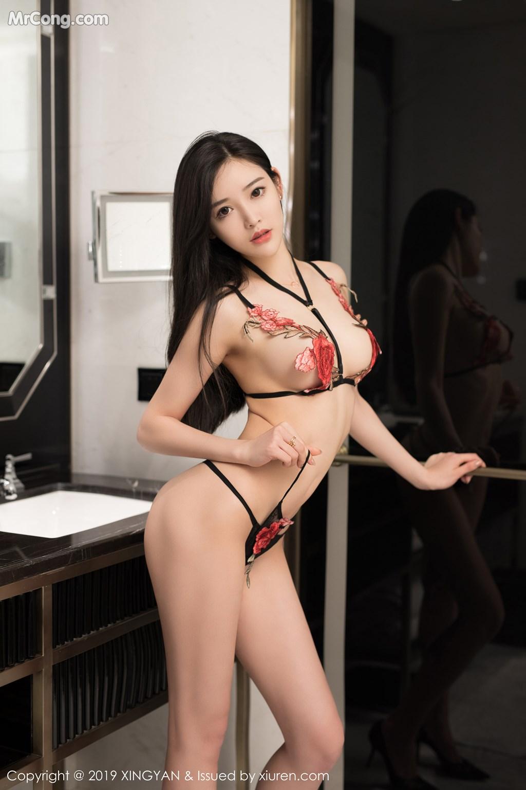 Image XingYan-Vol.121-He-Chen-Xi-MrCong.com-043 in post XingYan Vol.121: He Chen Xi (何晨曦) (49 ảnh)
