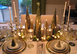 mesa navideña oro plata