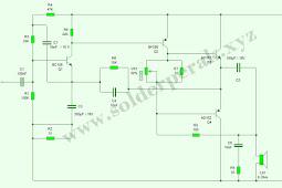Skematik Rangkaian Power Amplifier Mini 6V