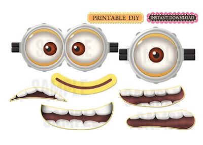 photograph about Minion Goggle Printable named Web site 2-SuccessSprinters: MUCHO MINIONS