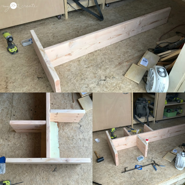 building open shelf with pocket holes