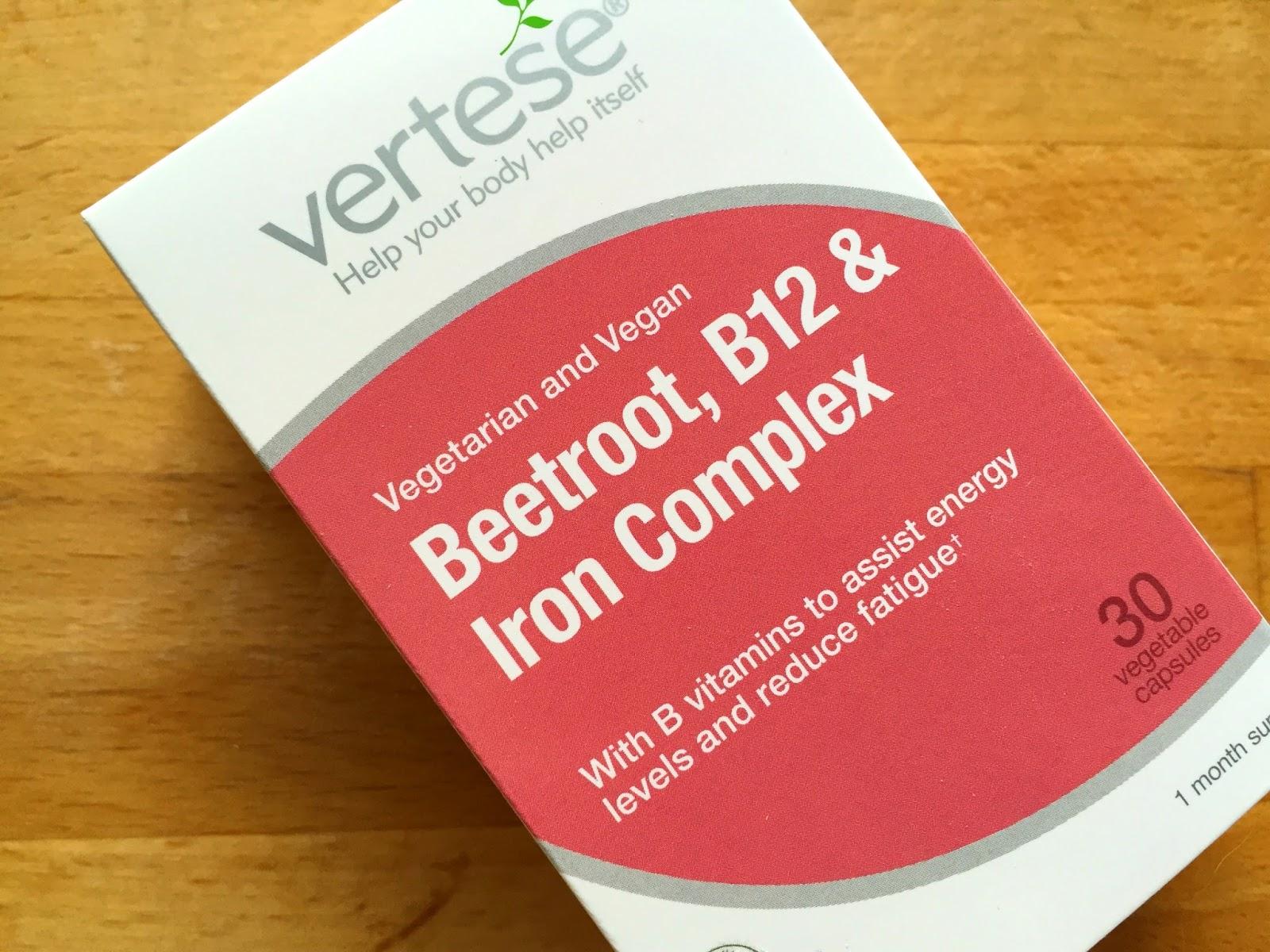 Vertese Beetroot, B12 & Iron vegan supplements