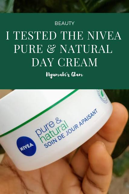 Tested || The Nivea Pure & Natural Day Cream