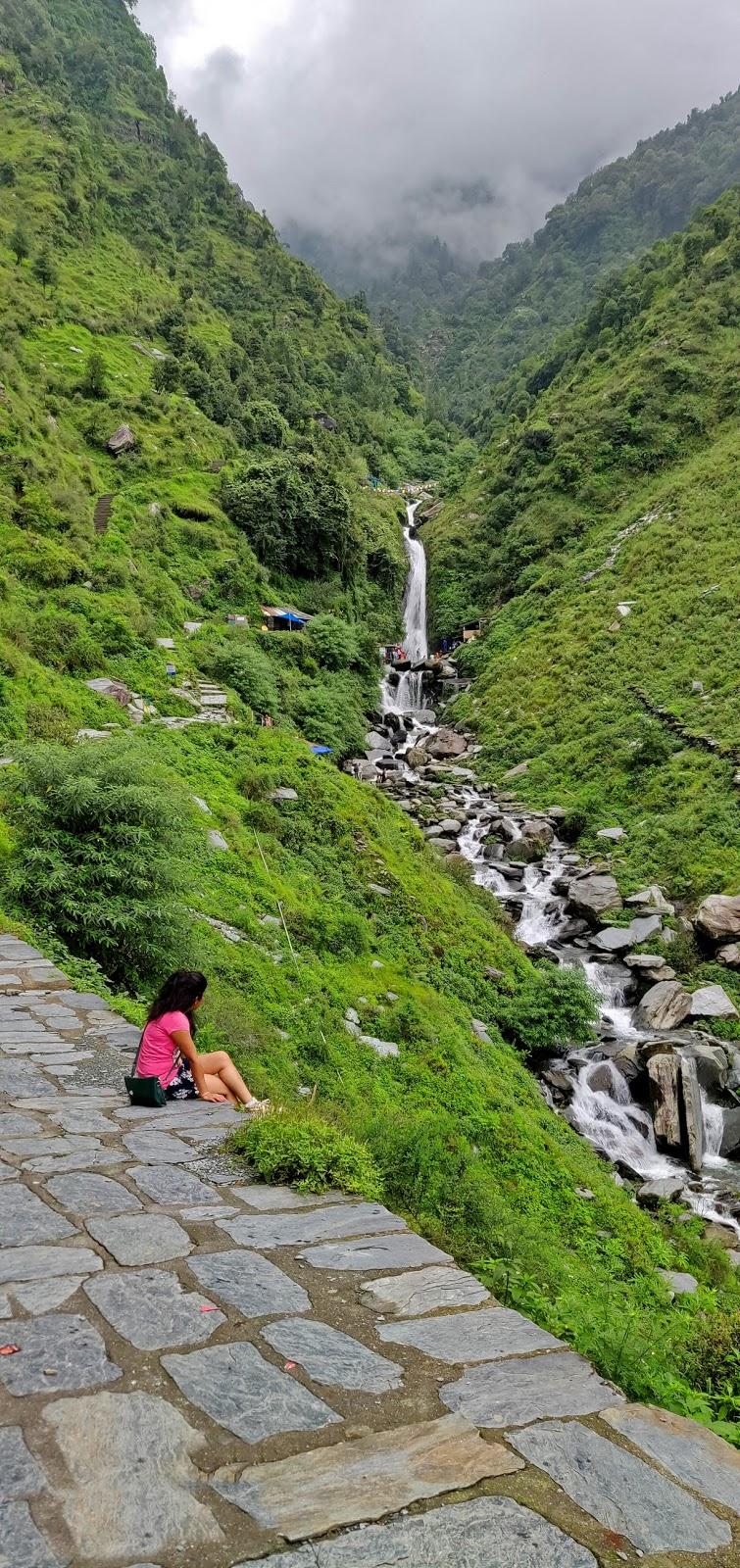 Trip to Dharamshala and McLeodganj- Bhagsu Falls
