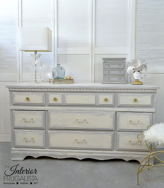 Vintage Farmhouse Dresser Makeover After
