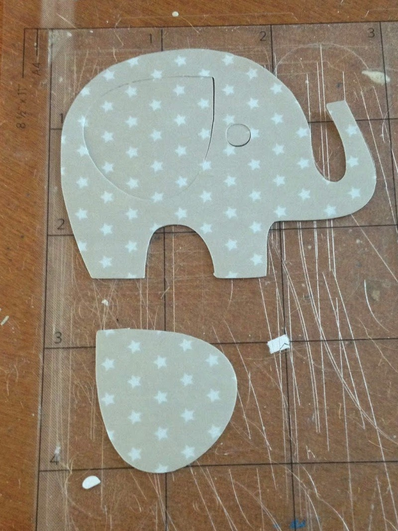DIY, do it yourself, nursery, art, Silhouette Tutorial, elephant, washi