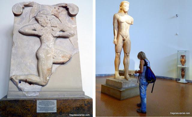 Representação dos kouro, Museu Nacional de Arqueologia de Atenas, Grécia