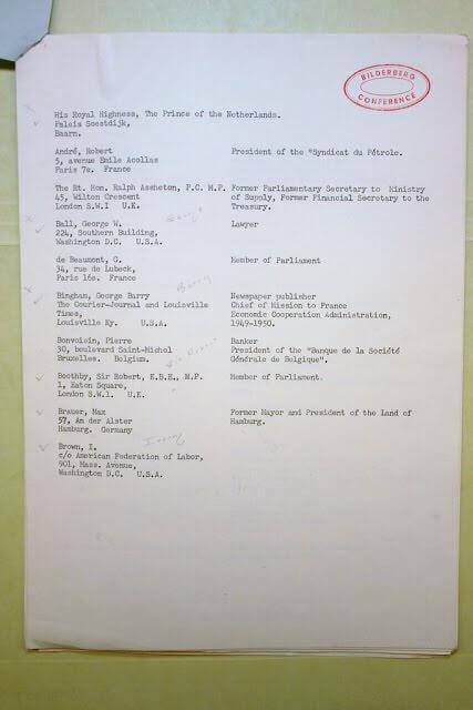 informasi bilderberg: bukti daftar keanggotaan bilderberg
