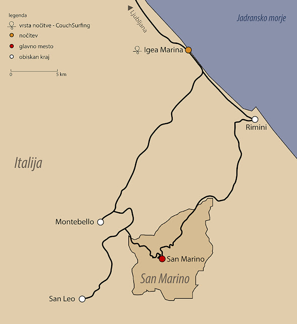 san marino map travel