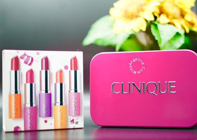 PARTY LIPSTICK SET BY CLINIQUE (REVIEW AND SWATCHES ALL SHADE)