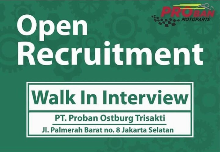 Jadwal Walk In Interview Mekanik di PROBAN
