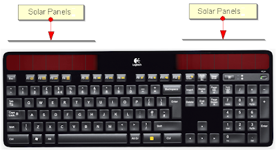 logitech solar powered keyboard k750 solar panels