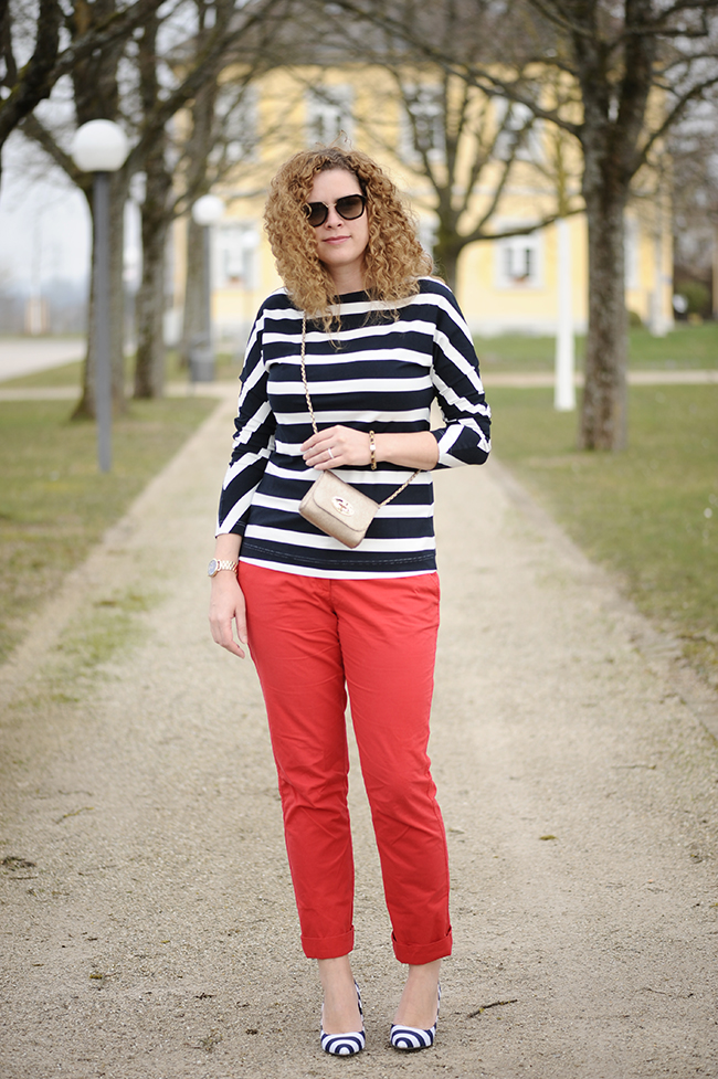 Burda style, stripes, shirt, red, Prada, Mulberry, Lily
