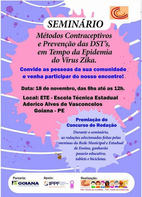 Grupo Curumim promove seminário  sobre prevenções de DST's e Zica