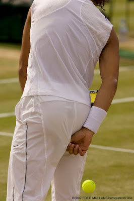 Rafael Nadal picking his bottom