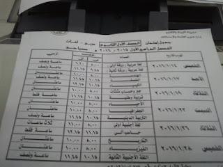 جداول امتحانات الدقهلية ترم أول 2016 تفصيلية المنهاج المصري 10.jpg