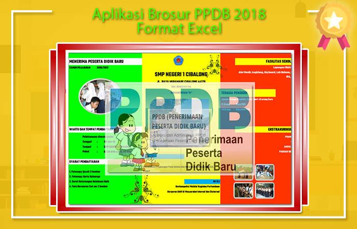 Aplikasi Brosur PPDB 2018 Format Excel