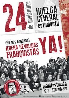 Resultado de imagen de Huelga Sindicato Estudiantes 24 de noviembre 2016