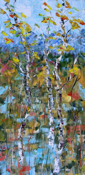 Daily painters abstract gallery impressionism aspen tree for Abstract impressionism definition